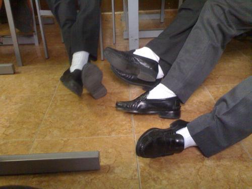 calcetines blancos en chicos