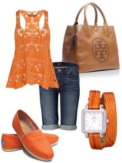 outfit naranja