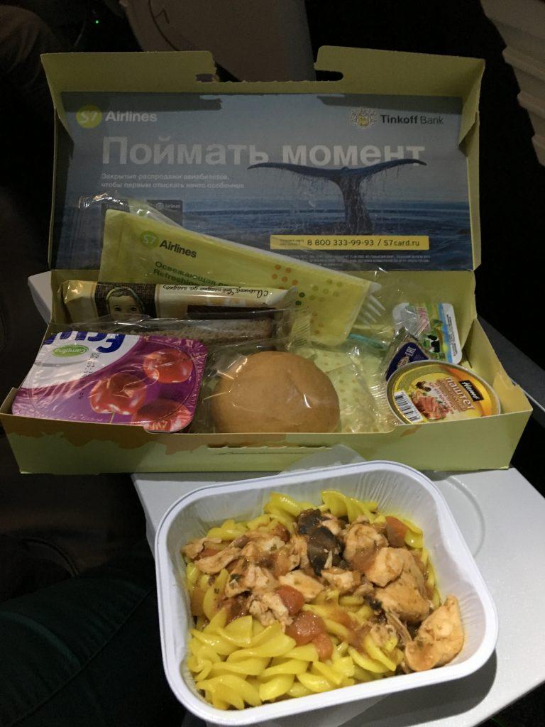 Comida rusa en el avión