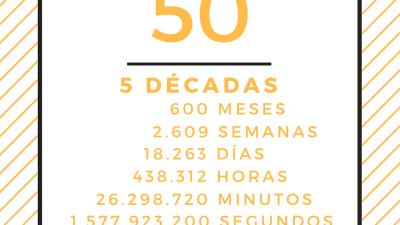CUMPLIR 50 AÑOS